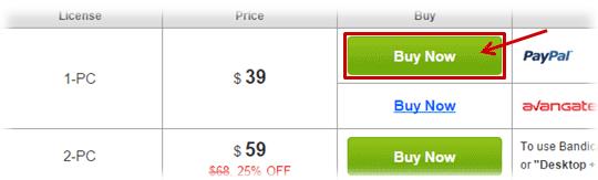 Remove Watermark - Buy and register the Bandicam serial key