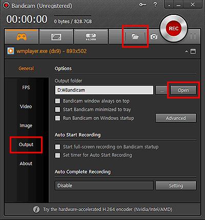 Open the output folder