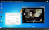 media player recording, sample video