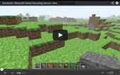 Minecraft recording, sample video