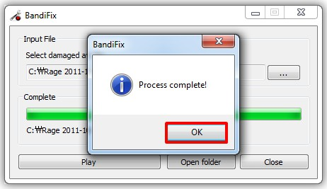 Bandifix - free broken avi file recovery program