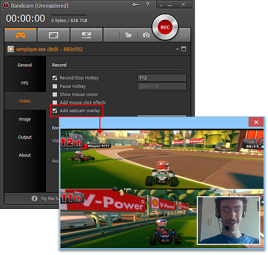 Bandicam Screen recorder - Screenshot