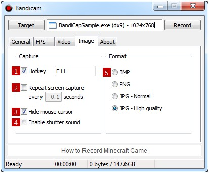 how to get bandicam to screen capture game