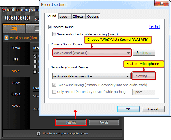 Recording studio software vista for Window recorder