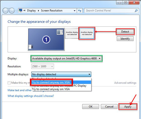 how to find screen resolution windows 8